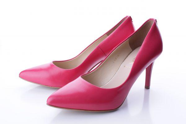 Kožené ružové lodičky 705-0