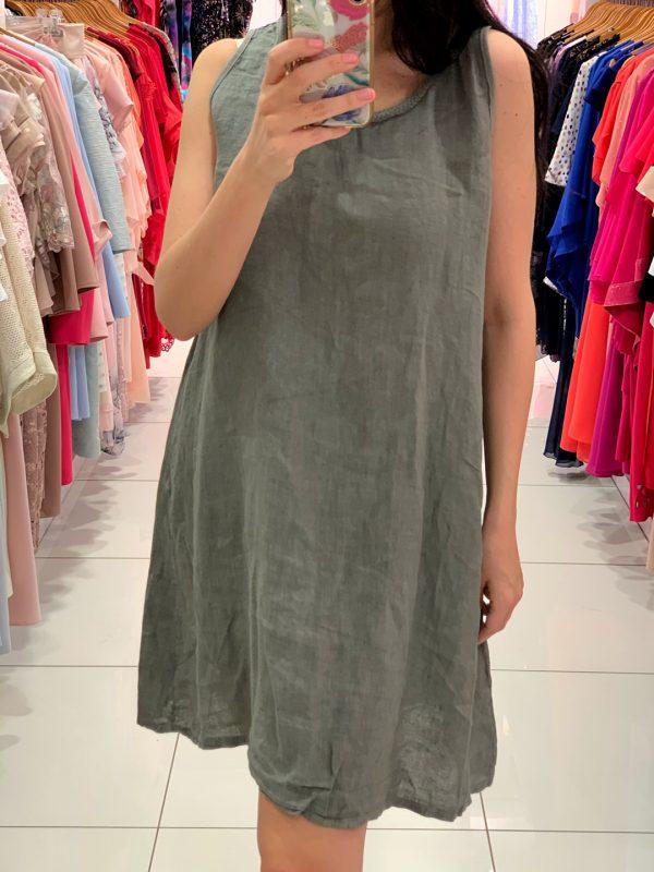 Ľanové šaty 8343-4-0
