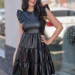 Koženkové šaty 5239-0
