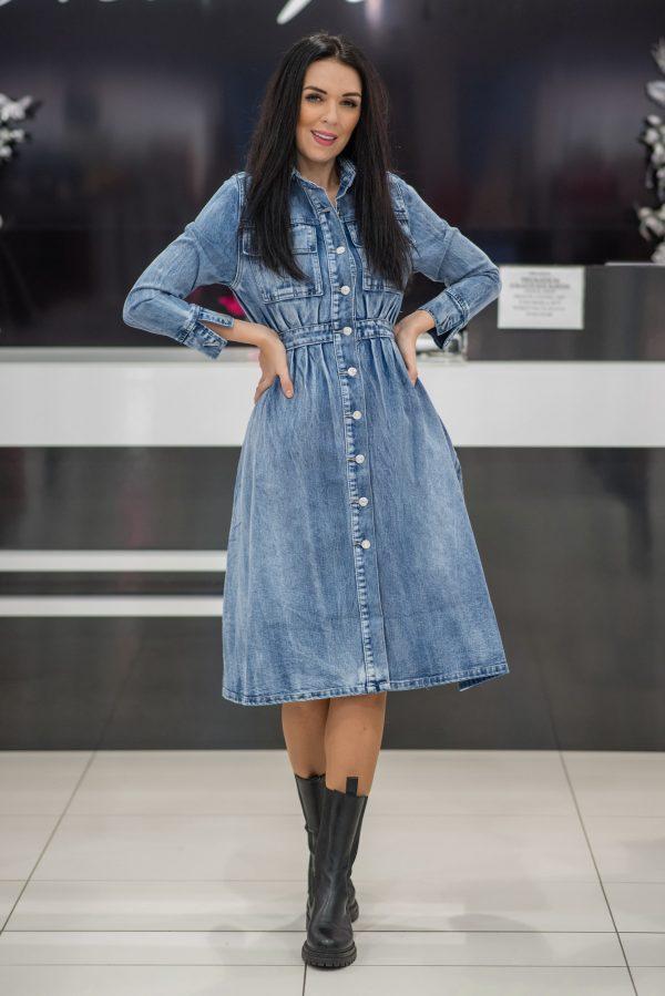 Riflové šaty 8559-1-0